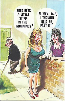 Vintage 1970's Bamforth's COMIC Postcard (As new Condition) little stiff #367