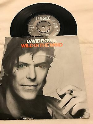 "David Bowie 7"" Single With P/s (Wild Is The Wind) On Rca Bow 10"