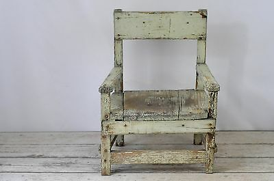 Antique Folk Art Children's Chair Early 1900s Vintage Wood Child's Chair