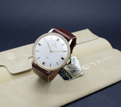 New Old Stock Ca.1960 CYMA solid 18K rose gold r.701 NOS watch Spanish case