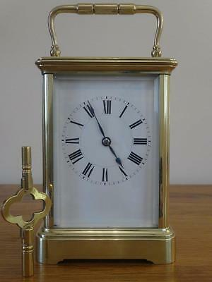 Excellent antique Henri Jacot carriage clock, c. 1905/10.  Fully restored 04/17