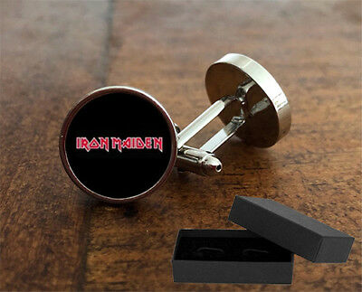 Iron Maiden  - Cufflinks - 3D Glass Lens Front - Rock Music - Mens Novelty Gift