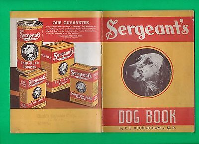 1935 Sergeant's Dog Book ~ Shepherd, Terriers, Airedale, Poodle, Beagle, Setter