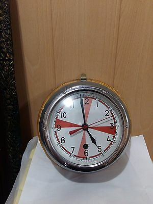 Vintage watch ship cabin maritime clock USSR Soviet with to mount on the wall