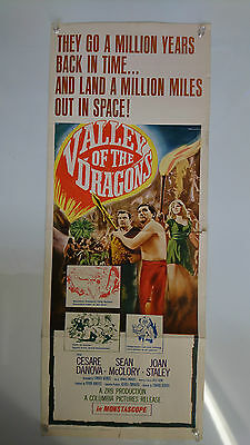 Valley Of The Dragons Original US Insert Movie Film Poster Science Fiction 1961