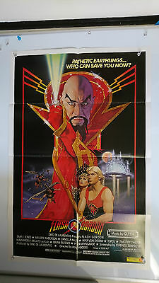 Flash Gordon Original US One Sheet Movie Film Poster Rare 1980
