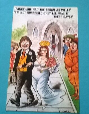 Bamforth Post Card Seaside Saucy Comic Series Black Triangle Chas 642 Unposted