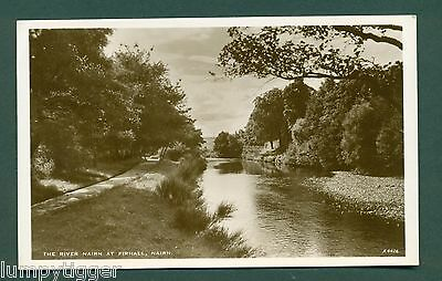 NAIRN,THE RIVER AT FIRHALL, vintage postcard