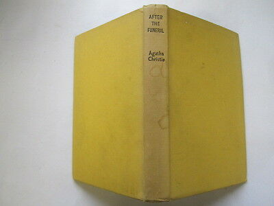 Acceptable - After The Funeral By Agatha Christie, First Edition, The Book Club