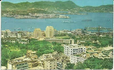 Hong Kong Vintage Postcard: Harbour, Kowloon, Naval Yard & Anchorage. Unposted.