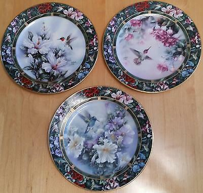 Lena Liu Signed Hummingbird Treasury Collector Plates Bradford Exchange