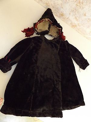 Antique Child's Toddler Period Coat & Matching Fur Hat