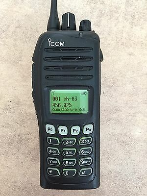 Icom IC-F4062T UHF Radio with BC-160 Charger + Spare Battery BP-232
