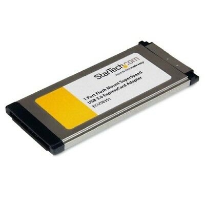 StarTech IO ECUSB3S11 1 Port Flush Mount ExpressCard SuperSpeed USB3.0 Card UASP