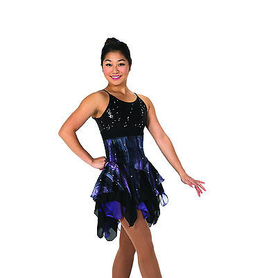 New Jerrys Competition Skating Dress 102 Smoak And Mirroirs Made on Order