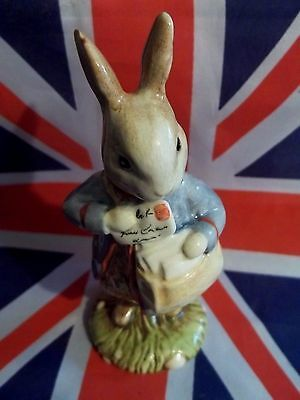 Bp6A Peter With Post Bag Mail Bag Figurine Beatrix Potter Michael Doulton Signed