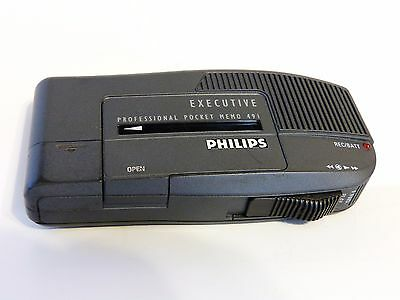 Philips Professional Pocket Memo 491 For Parts/Not Working