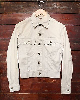 VTG 60s LEE WESTERNER 100-J SANFORIZED COTTON BEIGE DENIM JACKET USA 36R