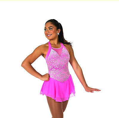 New Jerrys Competition Skating Dress 94 Coventry Clear Pink Made on Order