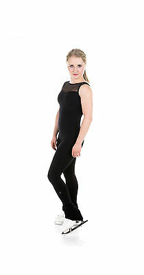 New Skating Dress Catsuit Unitard 0016-bk Black Supplex Made on Order All Size