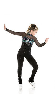 New Skating Dress Catsuit  Unitard Crystals 0018-PC Made on order All Sizes