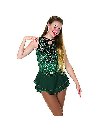 New Jerrys Competition Skating Dress 89 Emerald Locket Made on Order