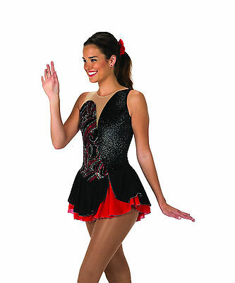 New Jerrys Competition Skating Dress 111 Side Devide Made on Order
