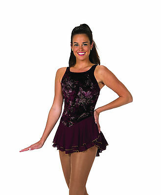 New Jerrys Competition Skating Dress 118 Black Currant Crush Made on Order