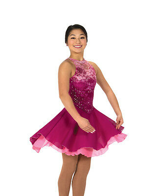 New Jerrys Competition Skating Dress 125 Rythm Roses Pink Lace Made on Order