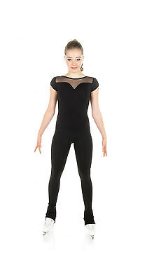 New Skating Dress Catsuit  Unitard Crystals 0022-bk Made on order All Sizes