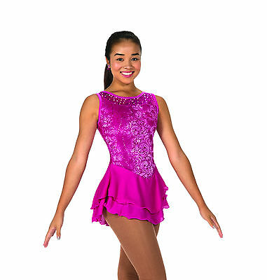 New Jerrys Competition Skating Dress 85 Sweep Of Sequins PInk Made on Order
