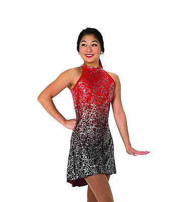 New Jerrys Competition Skating Dress 70 Warrior Princess Red Black Made on Order