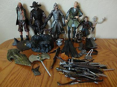 Lot of Lord of the Rings LOTR Action Figures & Accessories 2002-2003 NLP Marvel