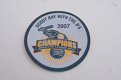 Oakland As Athletics Baseball Boy Cub Scout Day 2007 Patch (C3L) 2006 Champions