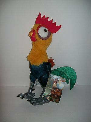 Disney Store Moana Rooster Hei Hei 12 inch Tall Plush Chicken New Sold Out!