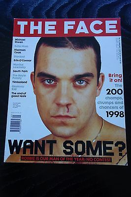 The Face Magazine Vol 3 No 24 Jan 1999 Robbie Williams Kate Moss South Park