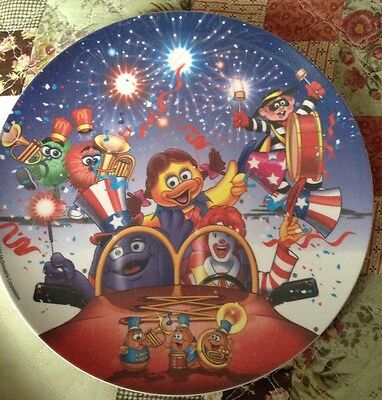 McDonalds Collectable Melamine Plate 2002, 4th Of July