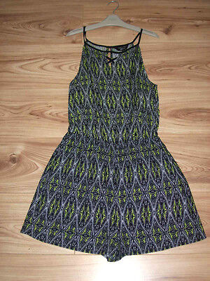 GIRLS NEW LOOK  PLAYSUIT 14 Years,Tribal Aztec black lime white Holiday Jumpsuit