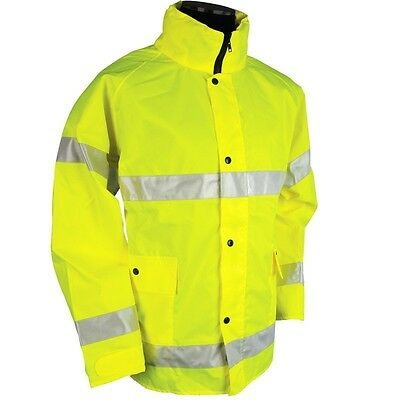 1 New ML Kishigo 9665J  Storm Stopper Hi Visibilty  Rainwear Jacket  L-XL
