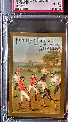 ***PSA 4 VG-EX*** LACROSSE *** 1878 Huntley & Palmers