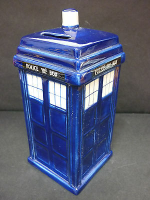 Ceramic Dr Who TARDIS Novelty China Money Box Piggy Bank - 8 inches high