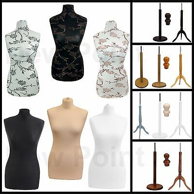 Female Tailors Dummy Dressmakers Fashion Student Mannequin Display Bust Size 6/8