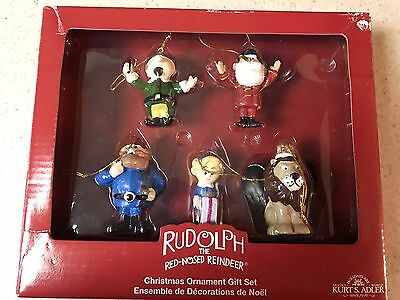 Rudolph The Red Nosed Reindeer Island Of Misfits 5 Piece Set Porcelain Ornaments