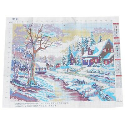 Winter snow cross stitch Landscape painting cross stitch ED