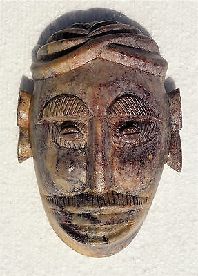 Fine African mask carved in soapstone