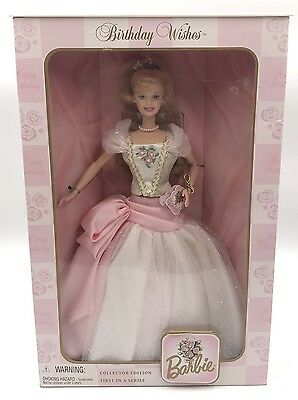 1998 Birthday Wishes Collector Edition Barbie Doll First in a Series New in Box