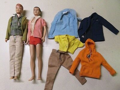 1960 Ken and Allan Barbie Dolls plus Clothes