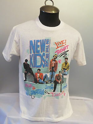 New Kids on the Block Tour Shirt - No More Games (1990) - Men's Large