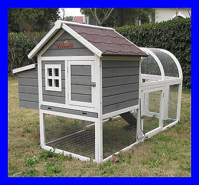 Charminster Chicken Coop Hen House Poultry Ark Hutch Run New Large Duck Birds