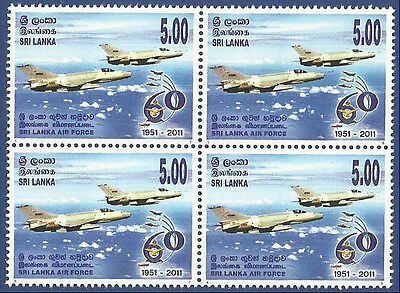 Sri Lanka 2011 Mnh Airforce Air Force Militaria Military Aeroplane Aircraft